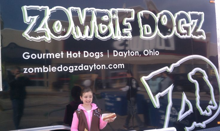 "One of Zombie Dogz first customers....a ""brownie"" ordering just a plain hot dog!  Kids love Zombie Dogz."
