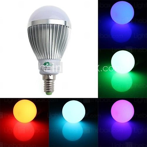 5W E14 LED Globe Bulbs A60(A19) 1 Dip LED 350-400 lm RGB Dimmable / Remote-Controlled / Decorative AC 85-265 V 2016 - £8.19