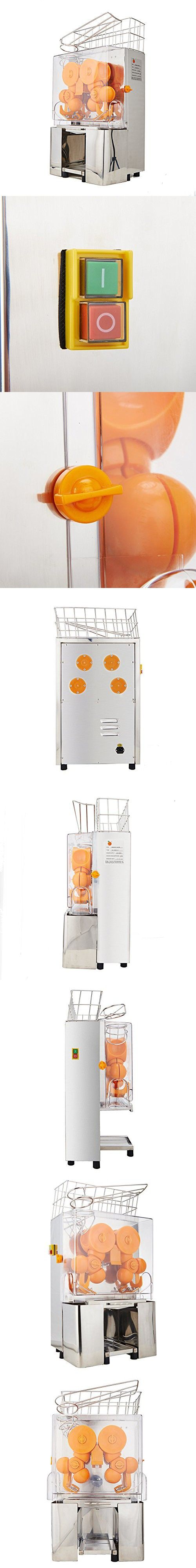 Mophorn Orange Juice Squeezer Commercial Orange Juicer 20-22 Oranges per Mins Citrus Juicer Juice Machine for Home and Commercial Use (Stainless Steel Tank)