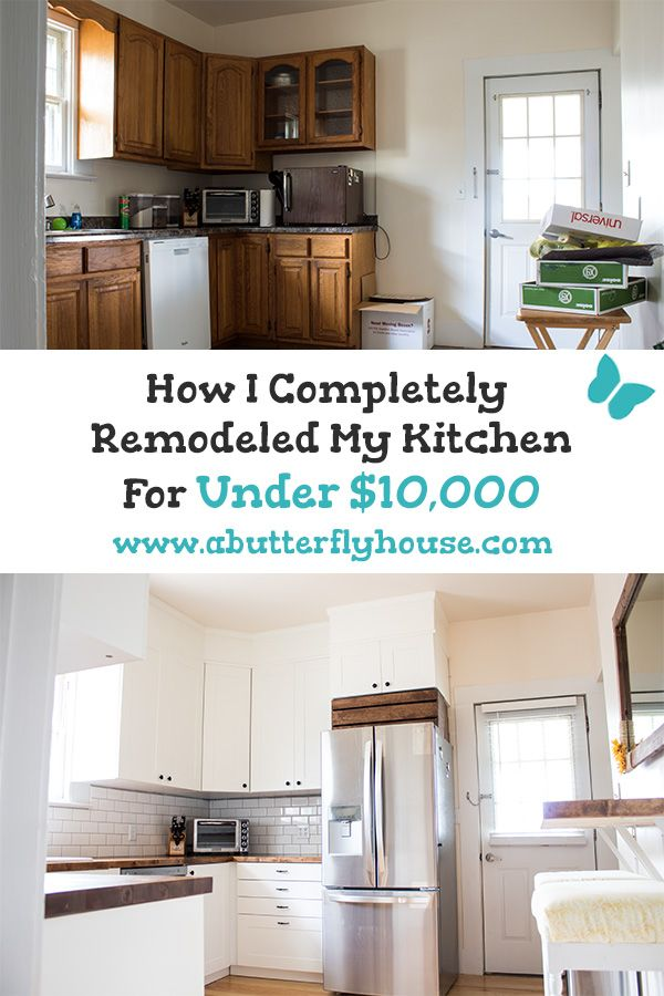 Budget Kitchen Remodel How I Kept It Under 10 000 A Butterfly House Budget Kitchen Remodel Kitchen Design Kitchen Layout