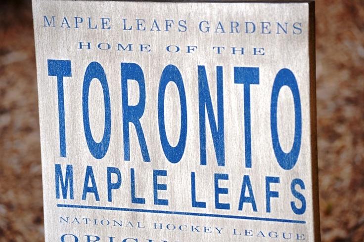 Toronto Maple Leafs Hockey - Original 6 - Established 1917 wood sign. $52.99, via Etsy.