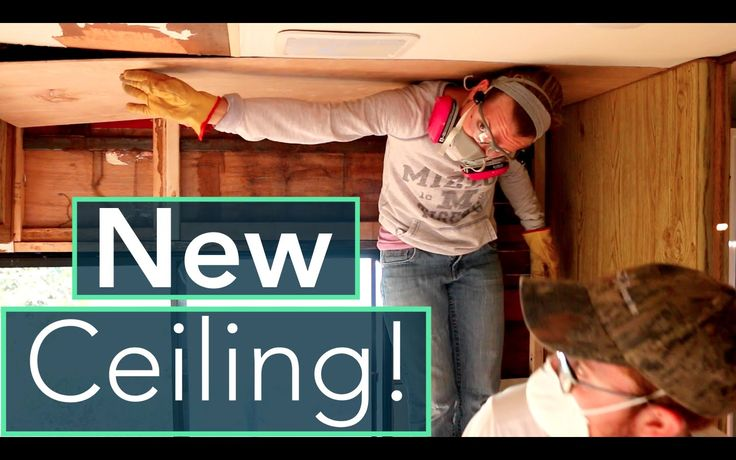 RV Water Damage Repair - Ceiling Insulation & Paneling.  In this video, we officially get a ceiling! Whoo! Last week, the water-damaged areas in the bedroom were reframed and now it's time to insulate and re-panel the ceiling!