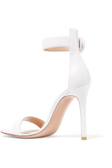 d735a299cfa Gianvito Rossi - Portofino 105 Leather Sandals - White