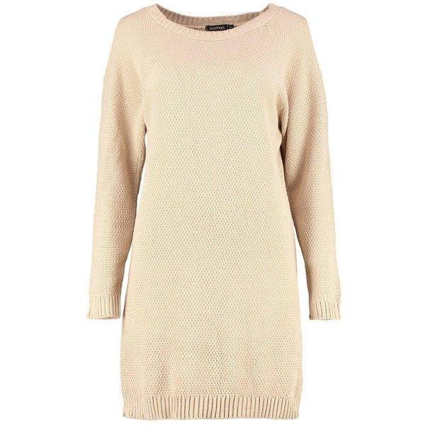 Boohoo Diana Cold Shoulder Jumper Dress ($15) ❤ liked on Polyvore featuring dresses, cold shoulder turtleneck, cut-out shoulder dresses, ribbed turtleneck top, turtleneck top and ribbed turtleneck