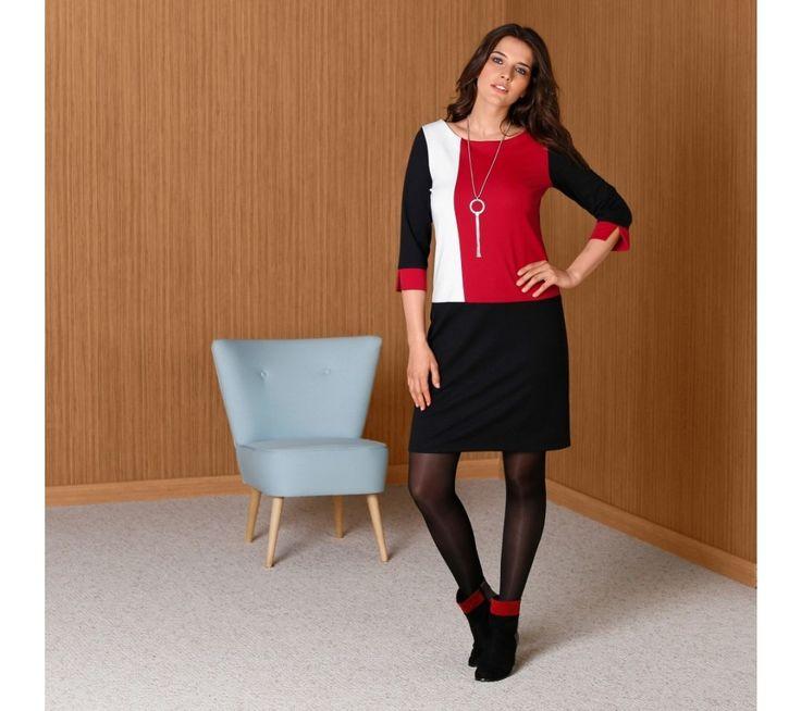 Šaty s grafickým vzorem, z úpletu Milano | blancheporte.cz #blancheporte #blancheporteCZ #blancheporte_cz #newcollection #saty