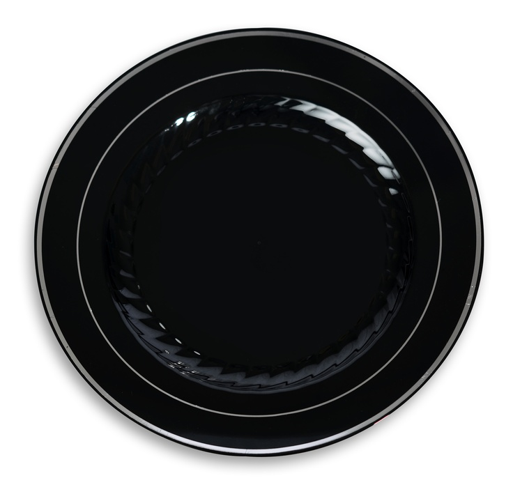 These upscale classic plastic disposable dinnerware collection are elegant and have silver and gold rim edges  sc 1 st  Pinterest & 187 best Plastic Disposable Party Dishes images on Pinterest ...