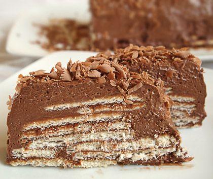Σοκολατένιο γλυκό με πτι μπερ