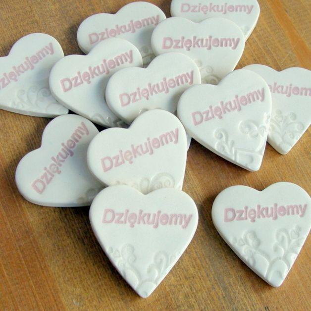 Podziękowania dla gości - magnesy ceramiczne ślub - AKoArt - Prezenty dla gości