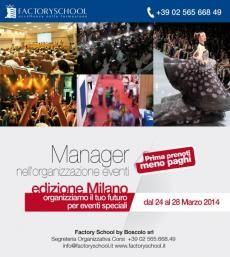 Sono aperte le iscrizioni al corso in Organizzazione eventi edizioni Milano