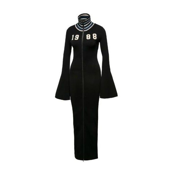 FENTY Women's Zip-up Sweater Maxi Dress - US ($360) ❤ liked on Polyvore featuring dresses, maxi dresses, puma dress, maxi length dresses and zip up dress