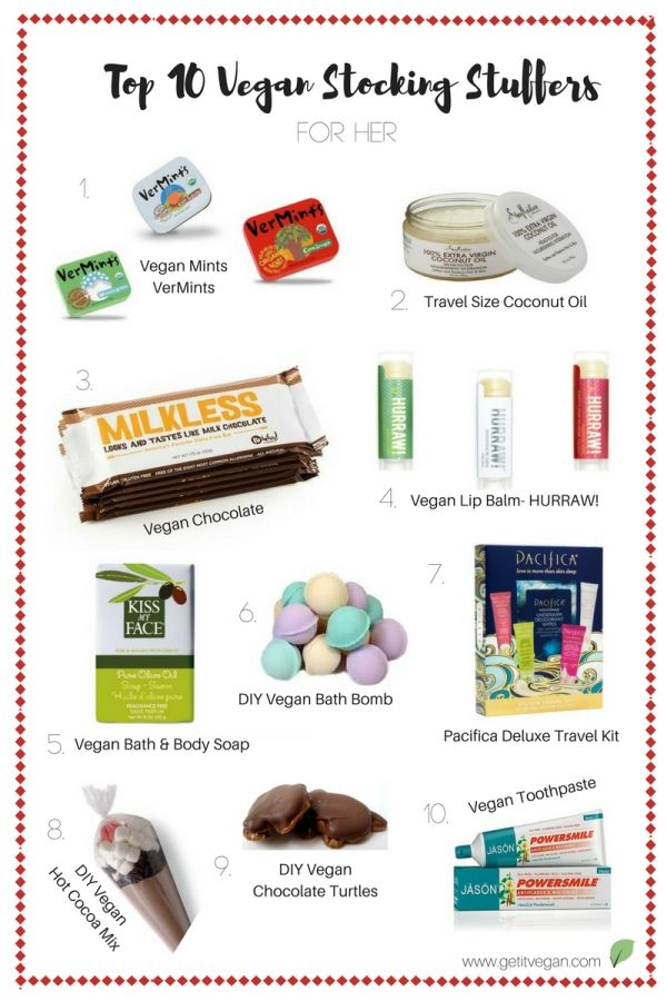 Top 10 vegan and cruelty free stocking stuffers for her. From home made bath bombs and turtles, to vegan milk chocolate bars and bath soap, this guide has all the best items for putting a smile on her face this Christmas.