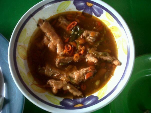 """That's """"Ceker Ayam Lapindo"""", spicy food from Sidoarjo, East Java, Indonesia"""
