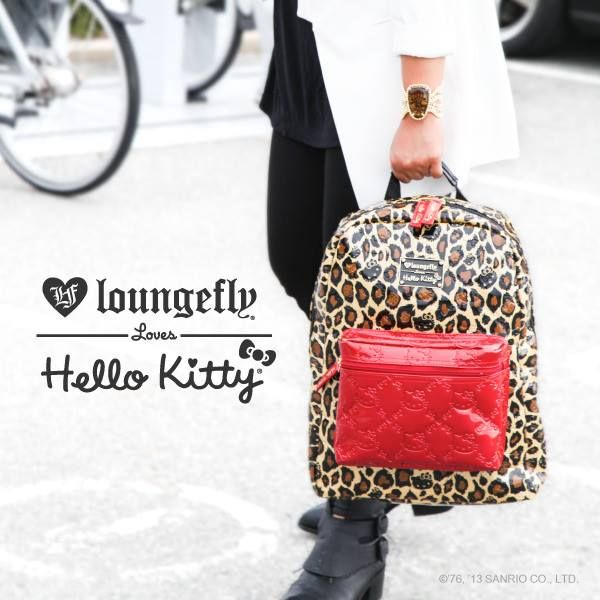 Hello Kitty Backpack  Red Leopard  beautiful  3125a2047fa59