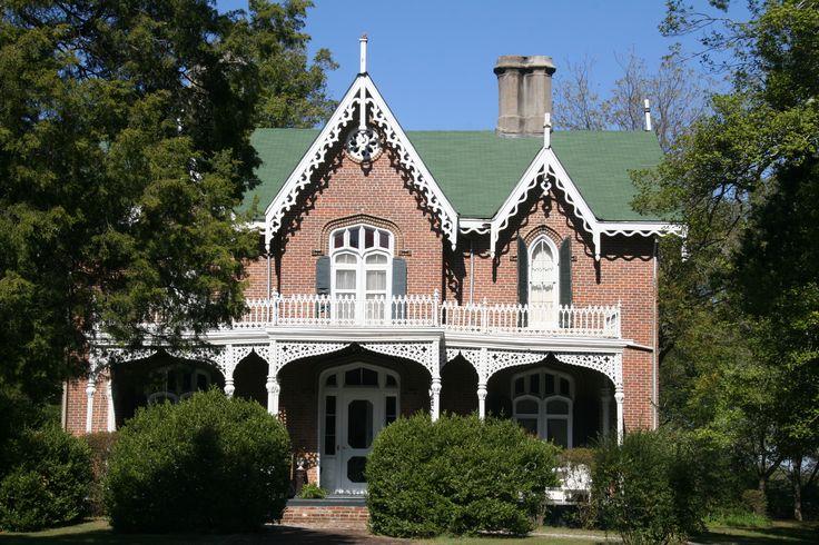 Cedarhurst antebellum homes gothic revival house house