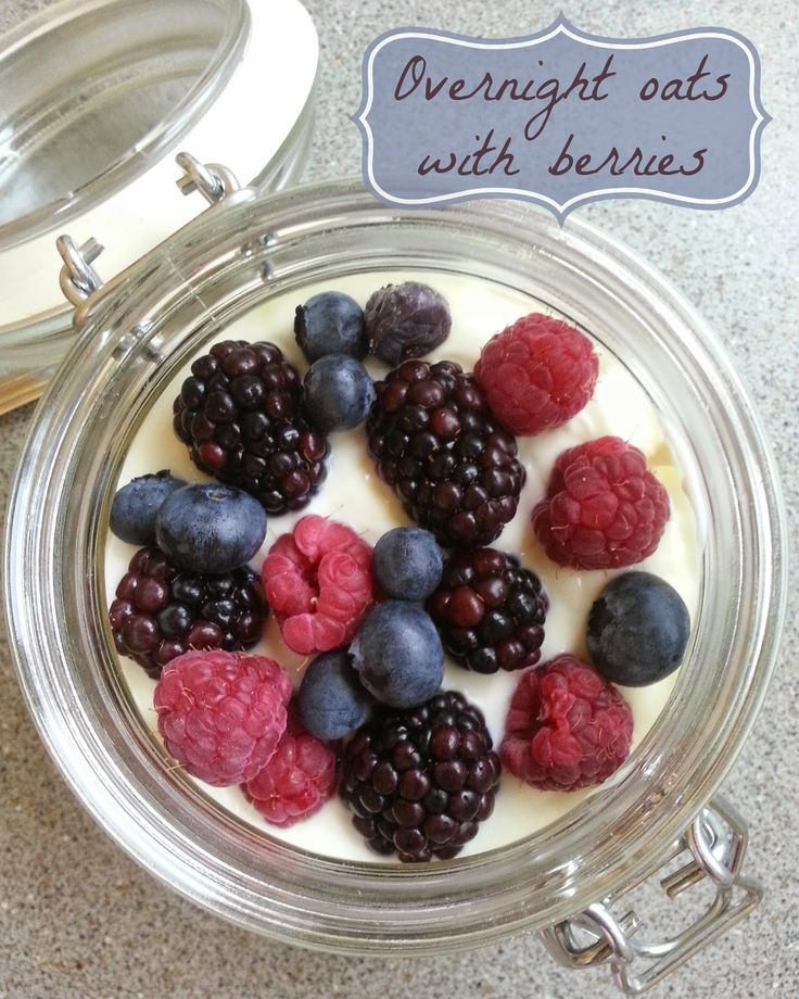 Overnight oats with berries (#SlimmingWorld friendly) | Nobody Said It Was Easy