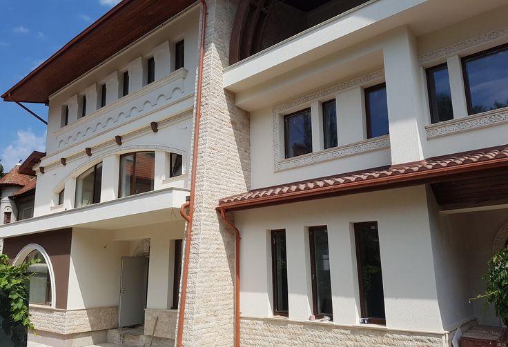 Fatada casa cu profile decorative din polistiren CoArtCo neoromanesti