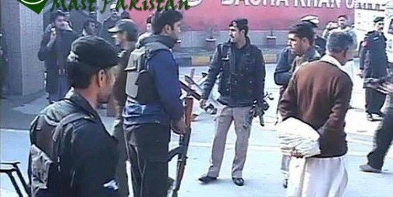 CHARSADDA: Security powers on Thursday confined four men associated with encouraging an audacious terrorist assault on the Bacha Khan University in Charsadda that left no less than 21 man dead.