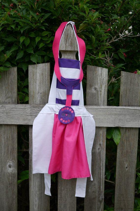 Kids apron Doc McStuffins apron Children Apron by lildivadesigns4u, $25.00