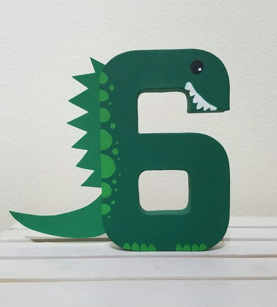 Dinosaur theme 8 paper mache number makes an excellent photo prop and birthday decoration. These handpainted numbers are approximately 8 tall. Please contact me with any questions or if you are interested in a special order. Please visit my shop to see the other items I have available:)