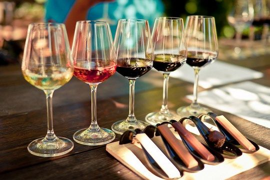Pairing wine and chocolate available at Spice Route Wines, in Paarl. Click through for more information what else you can see and eat at Spice Route, Paarl.