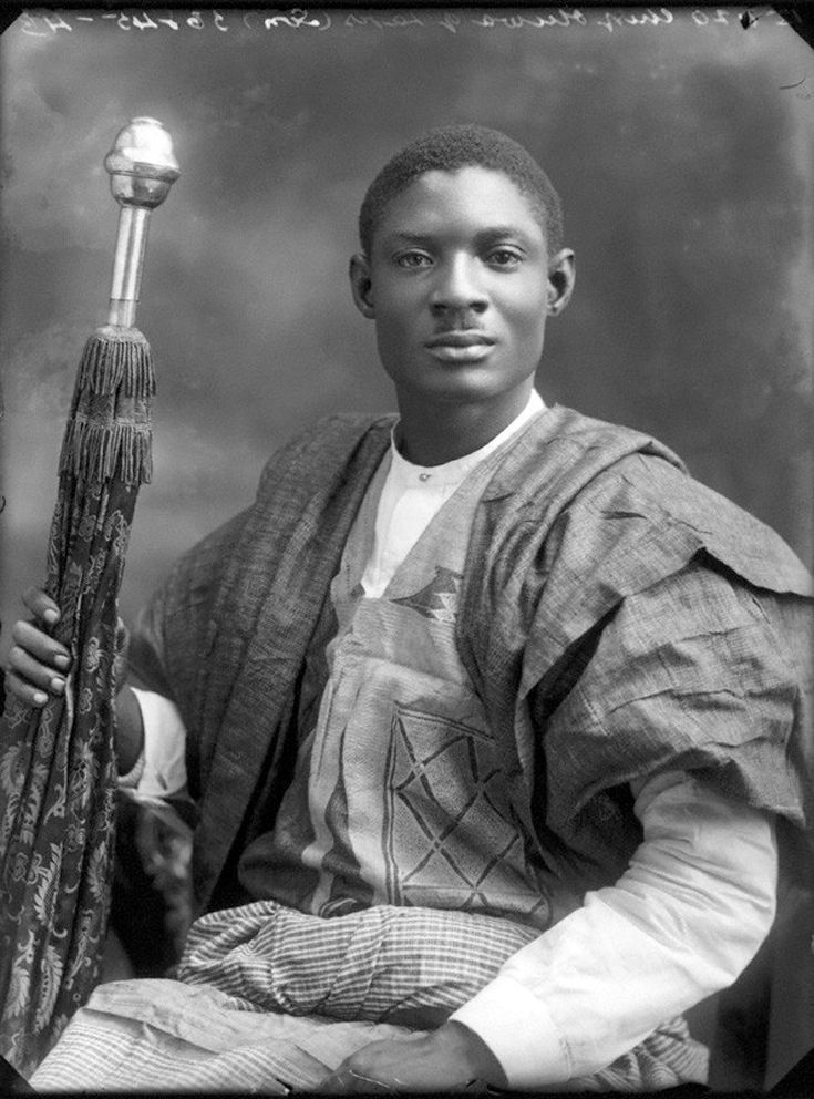 "Africa | ""Sir Adeniji-Adele II, Oba of Lagos"".  July 1920 