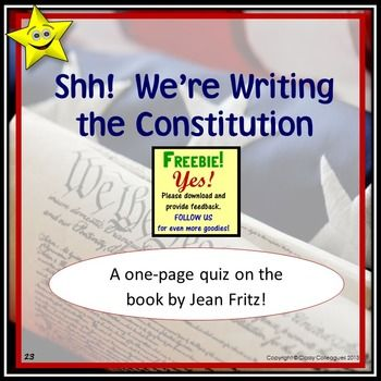 shh we're writing the constitution vocabulary We're writing the constitution, scavenger hunt and key shh we're writing the constitution, scavenger hunt and key  including writing, discussion, poetry vocabulary  use this to introduce writing the classroom constitution and teach why we are going to make rules and an agreement.