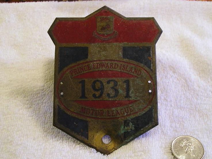 PRINCE EDWARD ISLAND PEI 1931 MOTOR LEAGUE