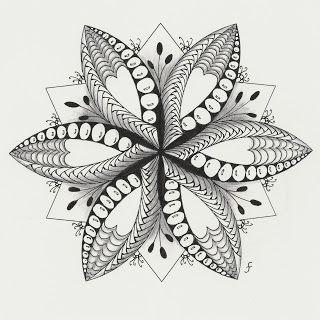 Pattern Play estafadores Plumas: mandala