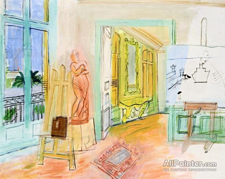 Raoul Dufy,The Painter's Studio With A Red Sculpture oil painting reproductions for sale