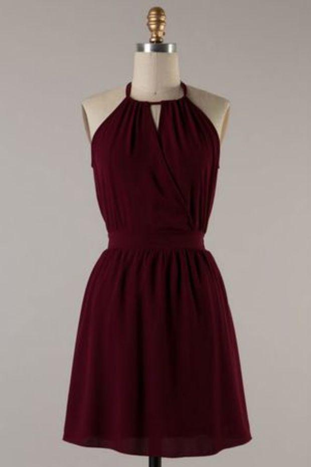 25  best ideas about Maroon dress on Pinterest   Chiffon dress ...