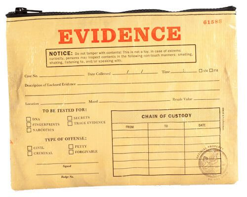 Evidence Tote and more Strange Gift Ideas at Perpetual Kid. WARNING: Do not tamper with the contents of our zippered Evidence Tote!   This is not a toy in any c