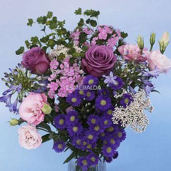 Lavender Hues Flower Table Centerpieces