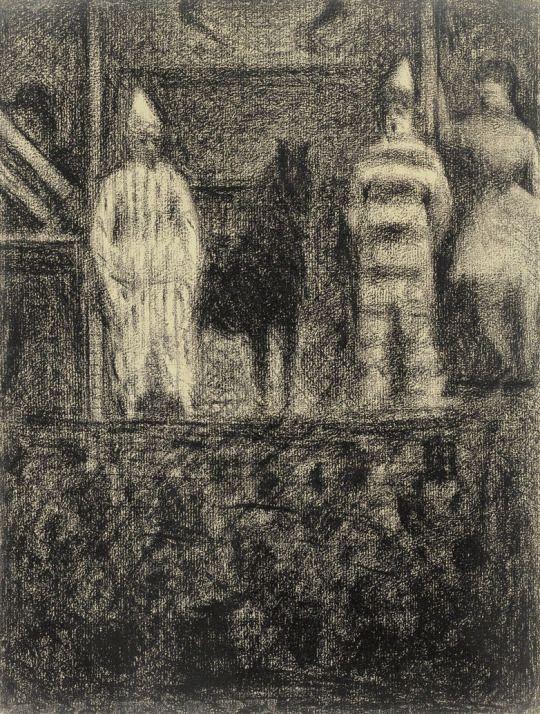 Georges Seurat, Sidewalk Show, ca.1883–84