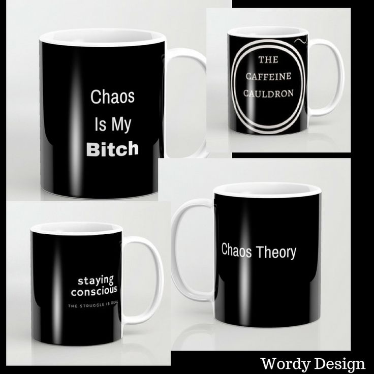 #coffee #mugs do the talking for you in these #blackandwhite classic designs. #homedecor #words #quotes #work