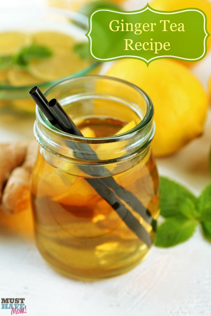 Ginger Tea Recipe for pregnancy and wellness. Helps nausea and morning sickness thanks to ginger root, helps boost calcium for immunity and strong bones. Can be served hot or chilled!