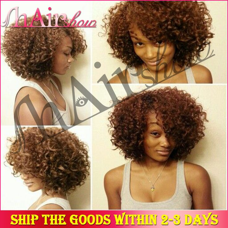 5A Brazilian Virgin Human Hair Short Lace Front Wigs kinky ... - photo #27