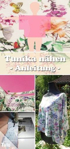 Sewing tunic for beginners – DIY instruction + free sewing pattern  – Nähen