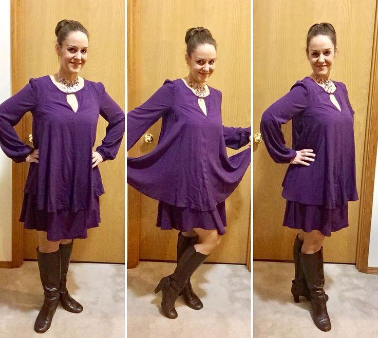 "12 Likes, 2 Comments - Heather Carr (@hethrgood) on Instagram: ""I'm wearing Avon's Mark Purple State Dress today! #AvonFashion #AvonClothing #AvonMark #Avon #Mark…"""