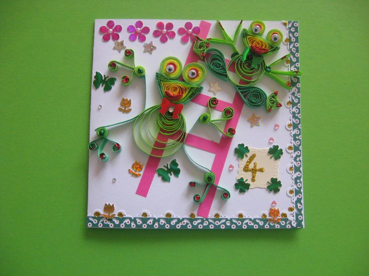 quilling card for kids