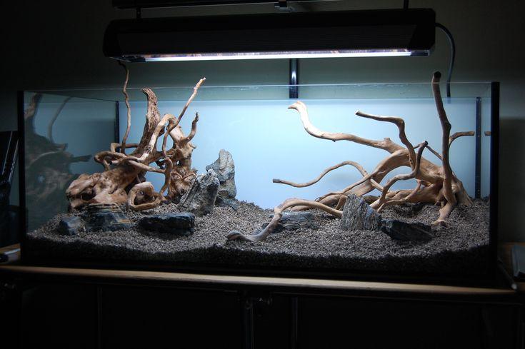 90 best hardscape naked version of aquascape images on for Aquarium modern einrichten