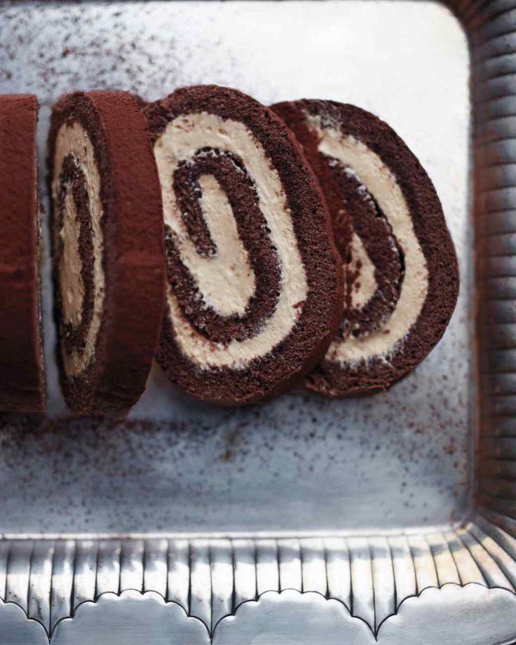 Chocolate-Caramel Swiss Roll Recipe | Martha Stewart