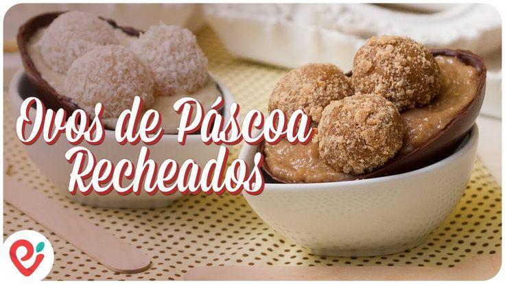 Ovos de Páscoa Recheados com Creme de Beijinho e Creme de Paçoca (Vegan)