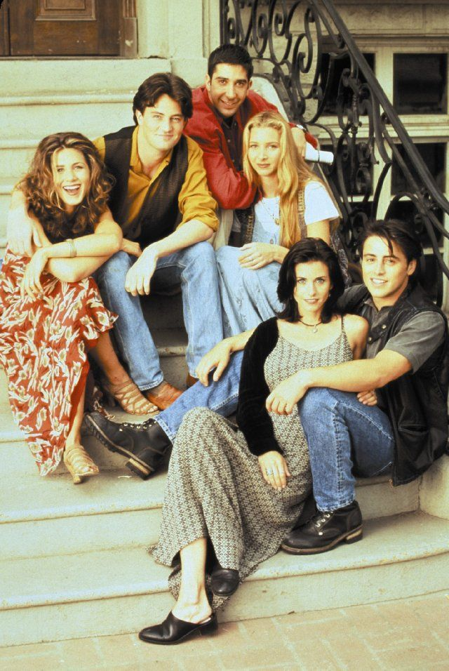 Jennifer Aniston, Courteney Cox, Lisa Kudrow, Matt LeBlanc, Matthew Perry and David Schwimmer in Friends