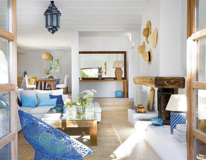Madera natural azul blanco estilo mediterr neo cuqui - Interiorismo y decoracion ...