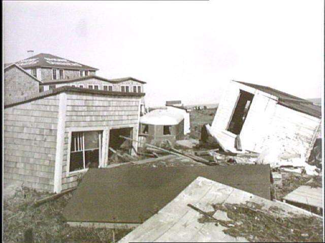 14. Hurricane damage, Point Judith, 1954