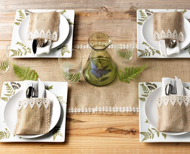 Lace and Burlap Table Setting | AllFreeDIYWeddings.com