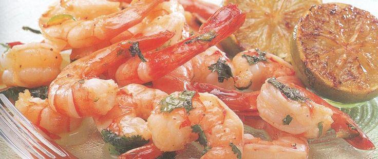 Un piatto perfetto per chi ama il pesce: gamberoni piccanti per diabetici
