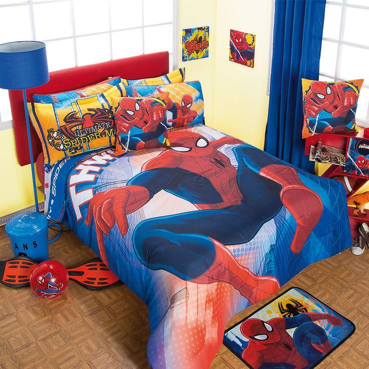 Coordinado de Edredón Hombre Araña #Recamara #Niños # ...