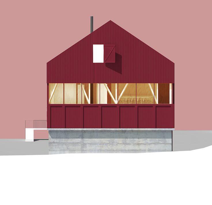 Prosjektet viser en mulig ombygging av en låve i Trøndelag for en familie som vil flytte hjem til gården. Vi ønsker å ta vare på låven som en del av tunet. Derfor er prosjektet løst som et nytt trevolum inne i låven. Det gir mulighet til å beholde både rom og eksisterende konstruksjoner som en del av huset.
