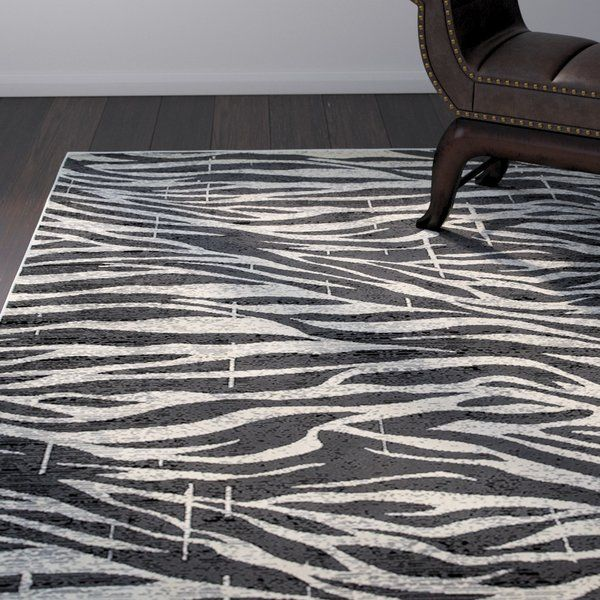 Wali Black Gray Area Rug Area Rugs Cool Rugs Transitional Area